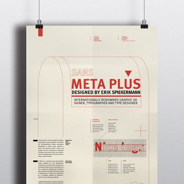 Meta plus font 서체의 시각적 구성 포스터 디자인