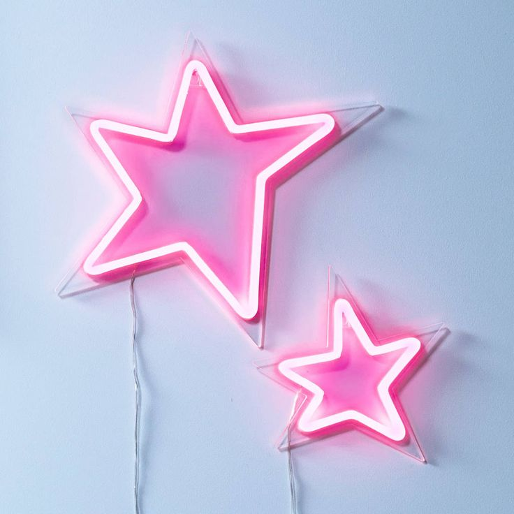 Pair Of Pink LED Neon Flex Stars in 2020 | Pink neon ...