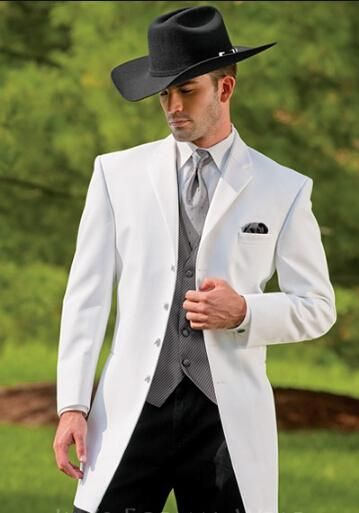 New Cowboy Series White Suit/Groom Wedding Suit Jacket And Pants ...