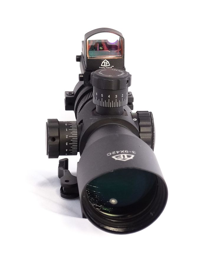 Trinity force scope with red dot is reticle illuminated in Red-green-blue, adjustable brightness. Quick detach mount will fit most Weaver-Picatinny rail systems as commonly found on AR15-M-4-FN SCAR- Bushmaster-ACR-S&W M&P 15/22-Kel-tec SU16 SU22- H&K 416-Hi-Point Carbine-Mossberg 715-Flex 22-Beretta CX4-CX9-ARX100-ARX160-Ruger SR22-SR556, black matte finish. To know more about trinity force scope with red dot Visit Old Dominion Tactical Website or call us 703-307-8567.