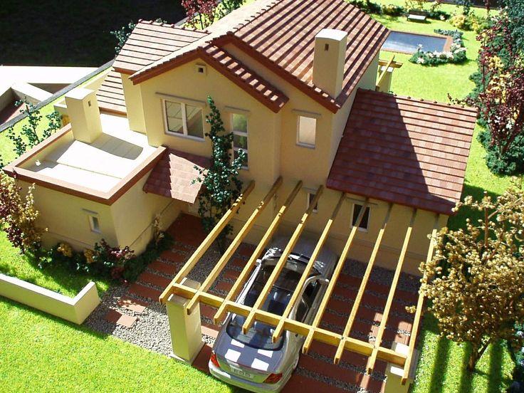 Maqueta casa en Piedra Roja - Chile . Escala 1:50