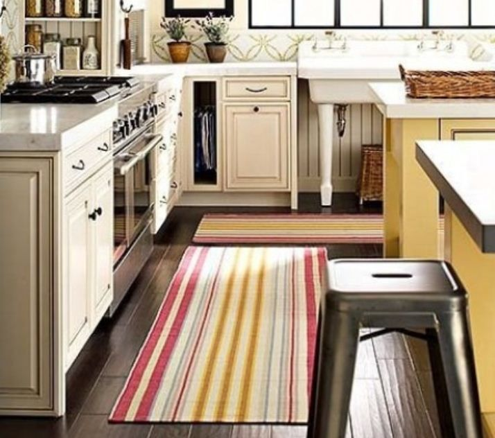 Striped Kitchen Area Rugs