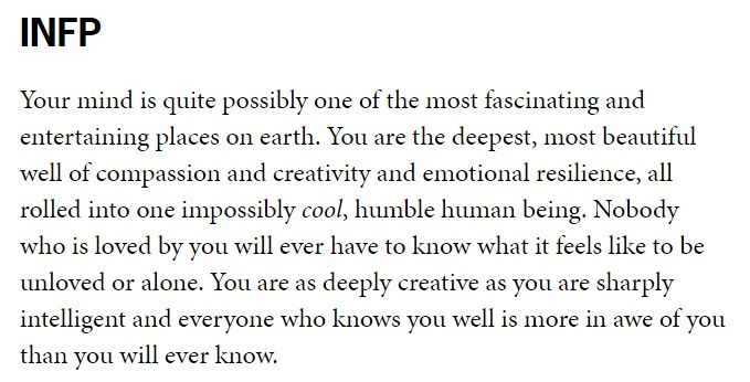 A Love Letter From An ENFP Who Adores You (INFP) I aspire to be this person.