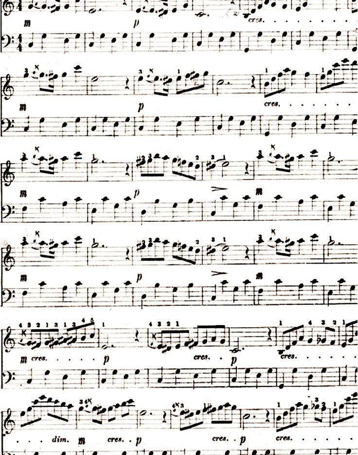 Printable Sheet Music... great to use for cards, scrapbooks, and collages.