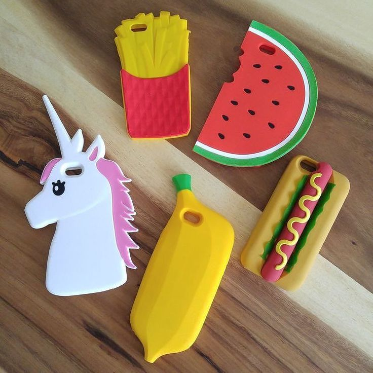 Banana, unicorn, hotdog frenchfries & watermelon