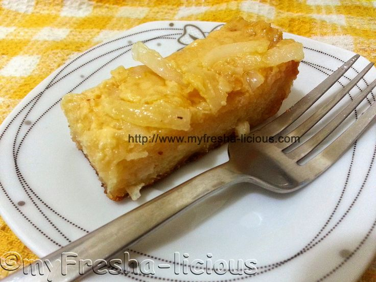 CASSAVA CAKE -  a classic Filipino dessert made from grated cassava  by www.myFresha-licious.com