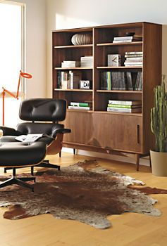 Eames® Leather Lounge Chair & Ottoman: Dining Rooms, Lounges Chairs, Living Rooms, Offices Rooms, Storage Shelves, Leather Lounges, Cabinets Storage, Grove Bookcases, Lounge Chairs