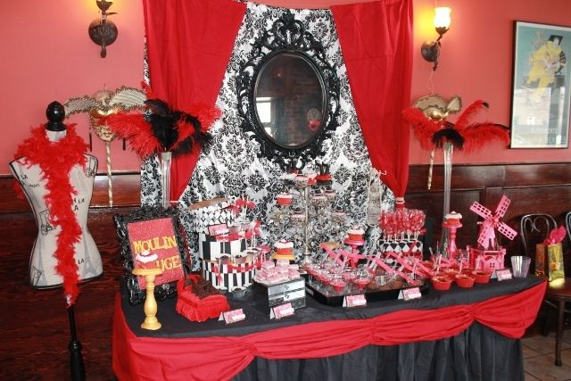 moulin rouge desserts | Moulin Rouge/burlesque / Birthday / Dessert Table: Moulin rouge ...