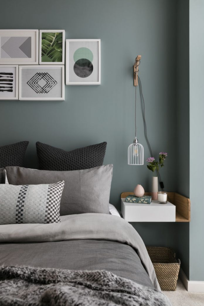 Gray Green Bedroom - Ideas for Basement Bedrooms Check more at  http://maliceauxmerveilles