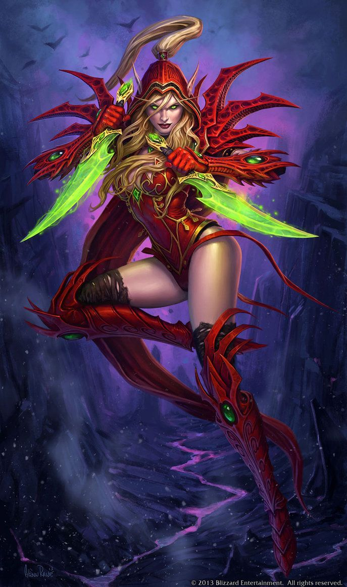 """Valeera Sanguinar Hearthstone Hero Portrait"" by Glenn Rane (Arsenal21) 