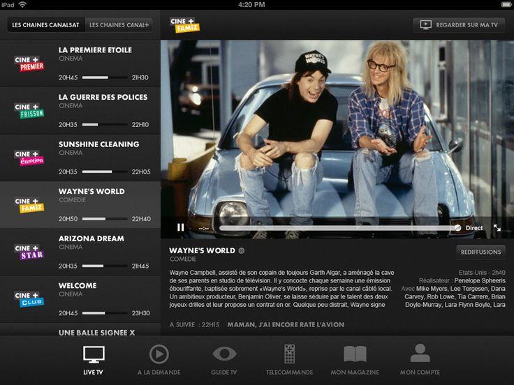 L'application CanalTouch tablette