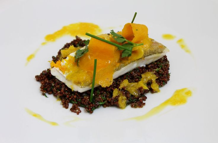 Merlan, orange, quinoa, herbes par Alain Ducasse
