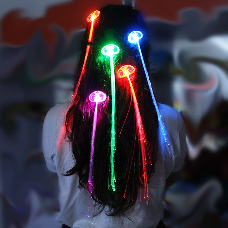 light fiber optic hair extension for womens ladies halloween glow toys party toy affiliate