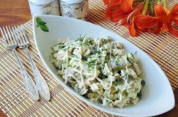 Салат с копченой курицей - рецепты с фото. Как приготовить очень вкусный салат из копченной курицы пошагово