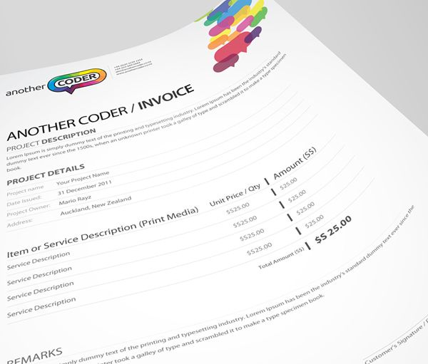 Nice Invoice Template Excel  Best Invoice  Quote  Receipt Images On Pinterest  Invoice  Rent Invoice Sample Excel with Blank Rent Receipts Pdf Another Coder Corporate Identity Which Include Logo Design Business Card  Quotation Invoice And Desktop Icon Design The Direction Have To Be  Colorful  Payment Receipt Template Free Pdf
