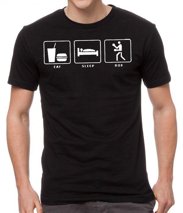 New+Eat+Sleep+BOX+Black+Men+T-Shirt