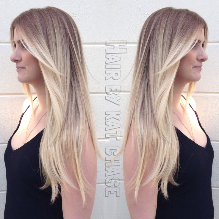 blonde ombré hair with layers