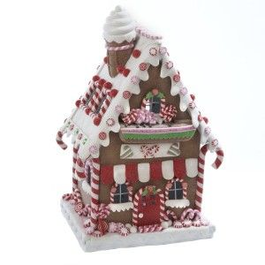 Kurt Adler Clay Dough LED Gingerbread House