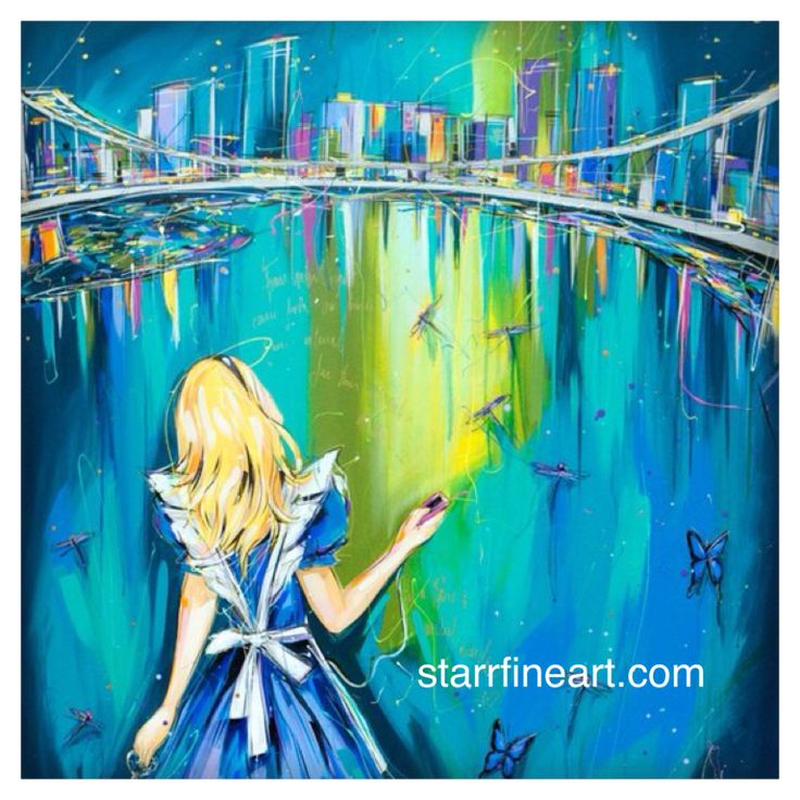 A little further down the rabbit hole .by STARR . www.starrfineart.com