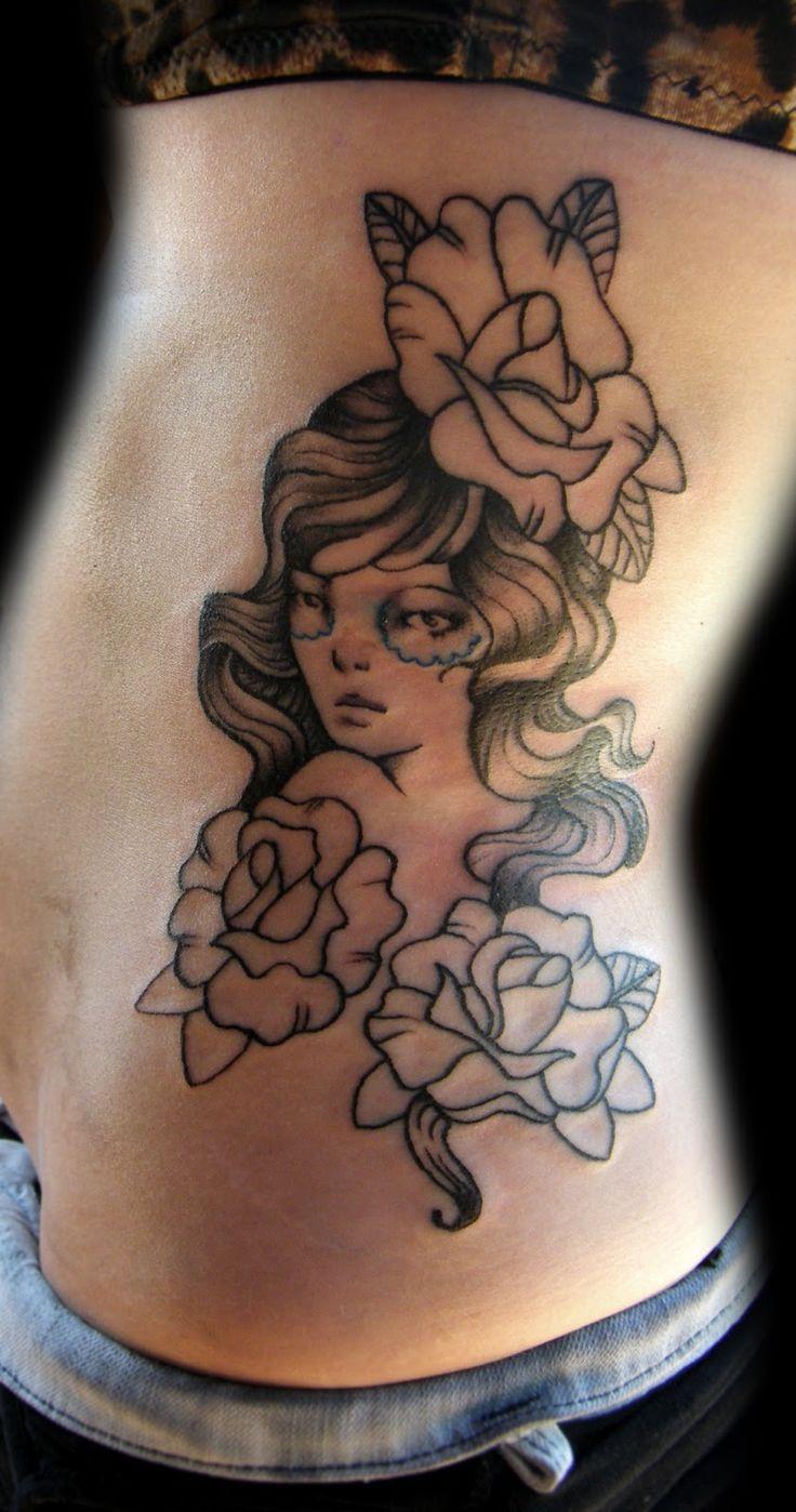 Melan Kolly: Gypsy and Roses side tattoo