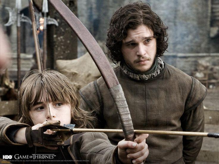 Jon Snow y Bran Stark. Game of Thrones