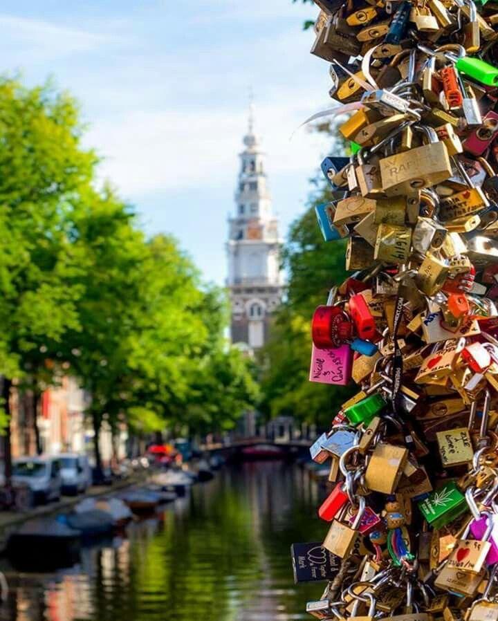 Amsterdam -  love lock bridge