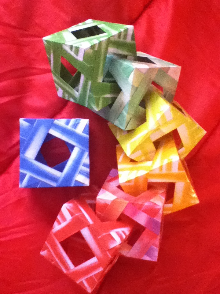 Origami cube made by Sooyoung
