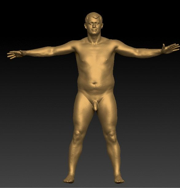PHOTO OF WHOLE BODY MAN WHITE NUDE AVERAGE WHOLE BODY 3D SCAN