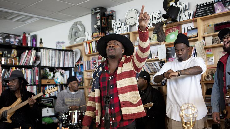 """Anthony Hamilton.  The soul star, his backup singers in The Hamiltones, and his band visit the NPR Music offices to perform """"Amen,"""" followed by three songs that have defined his career."""