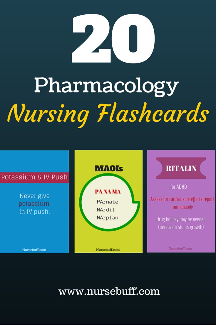 20 Nursing Pharmacology Mnemonics: http://www.nursebuff.com/pharmacology-nursing-mnemonics/