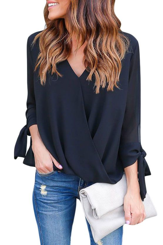 TC- look ve the bow (simple) on sleeves