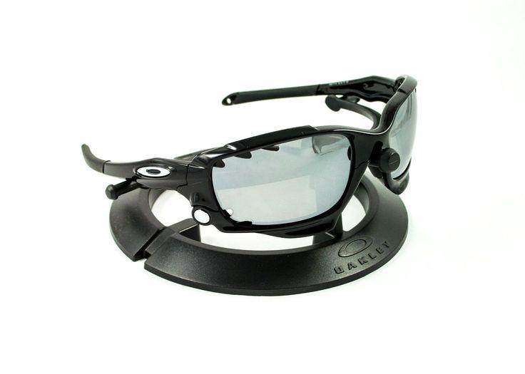 Oakley Racing Jacket Black Frame Revant Vented Titanium Polarized Lenses | eBay