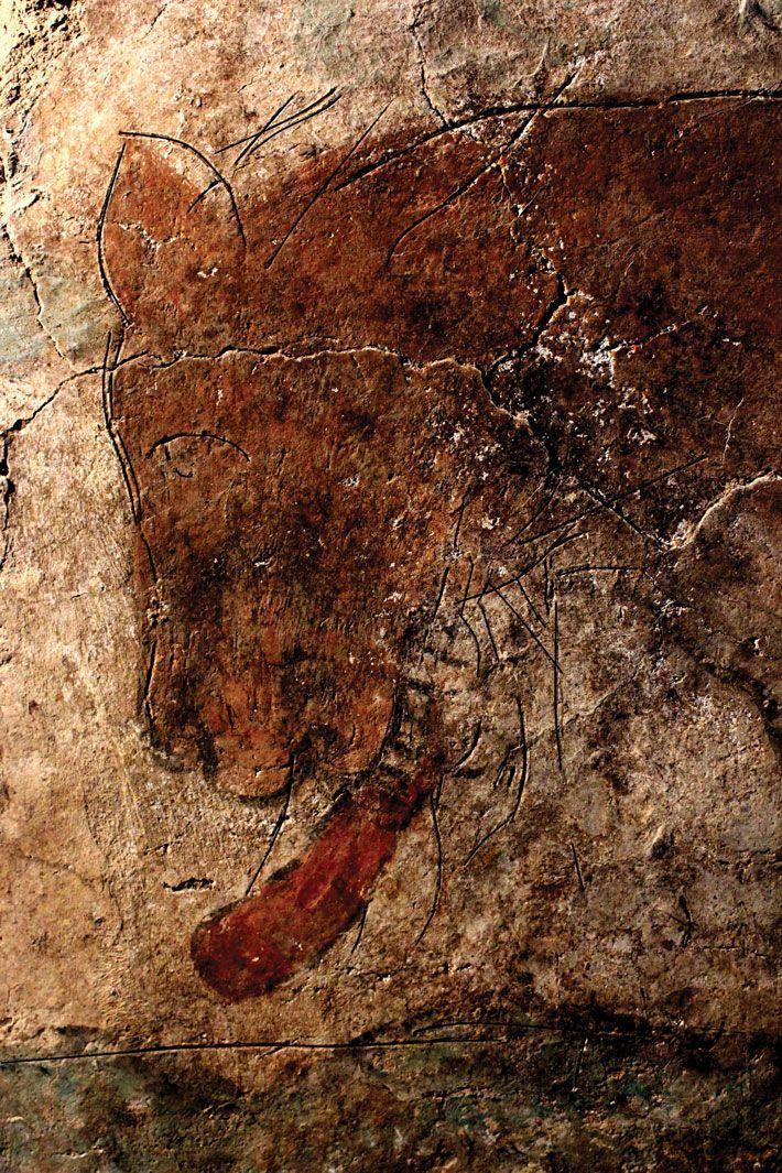Mexican cave painting of a jaguar black jaguar for Aztec mural painting