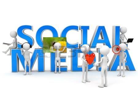 Los medios de comunicación social, concepto sobre el blanco. la imagen generada por ordenador