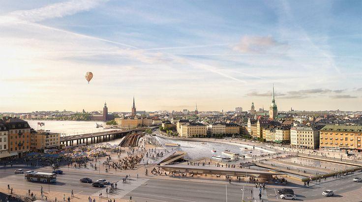 Responsável por redesenhar o Slussen, um dos centros de transporte mais movimentados da cidade, o escritório fará do prédio Mälarterrassen o ponto principal da proposta, já em construção.