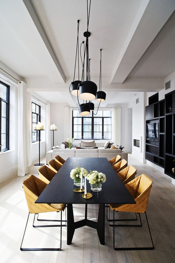 Furniture furthermore dining room china cabi ethan allen furniture on - 10 Gorgeous Black Dining Tables For Your Modern Dining Room