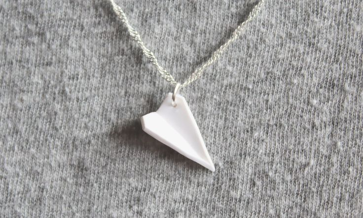 DIY: Paper Airplane Polymer Clay Necklace