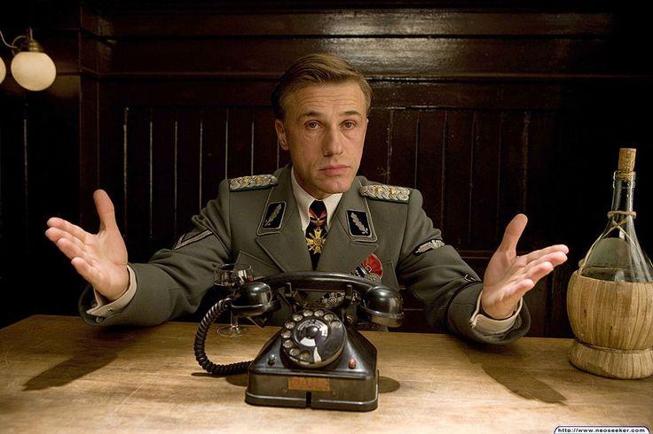 "Christoph Waltz in: ""Inglourious Basterds"" (2009) Director: Quentin Tarantino Cinematographer: Robert Richardson"