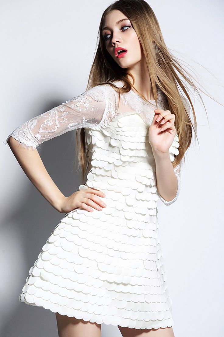 Fashion Street Style Women Dress handmade nails stitching with lace embroidery Of Sleeves Style A-line  dress,O-Neck Mini Woman Summer dress