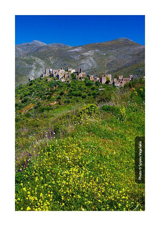 Vathia, the beautiful stone village in Mani, Peloponissos, Greece