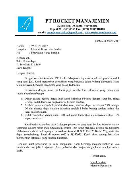 contoh surat penawaran barang hp contoh surat penawaran