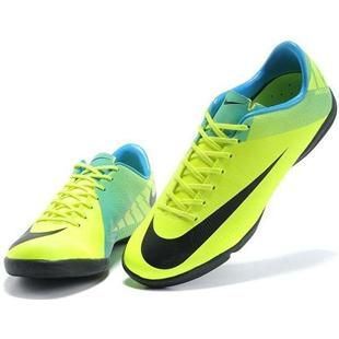 www.asneakers4u.com Mens Cheap Cleats Nike Mercurial Superfly III FG Indoor Soccer Shoes Football Boots In Green Blue Black