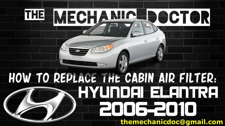 This video will show you step by step instructions on how to replace the cabin air filter on a Hyundai Elantra 2006-2010.
