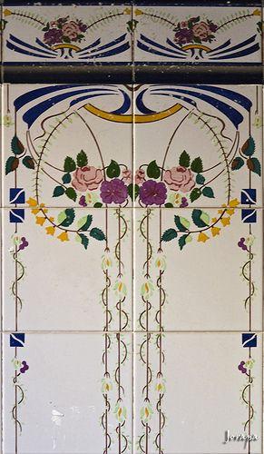 Tile Art Nouveau - /kellskakelly/art-nouveau-eye-candy/  BACK  (use as idea for embroider top)