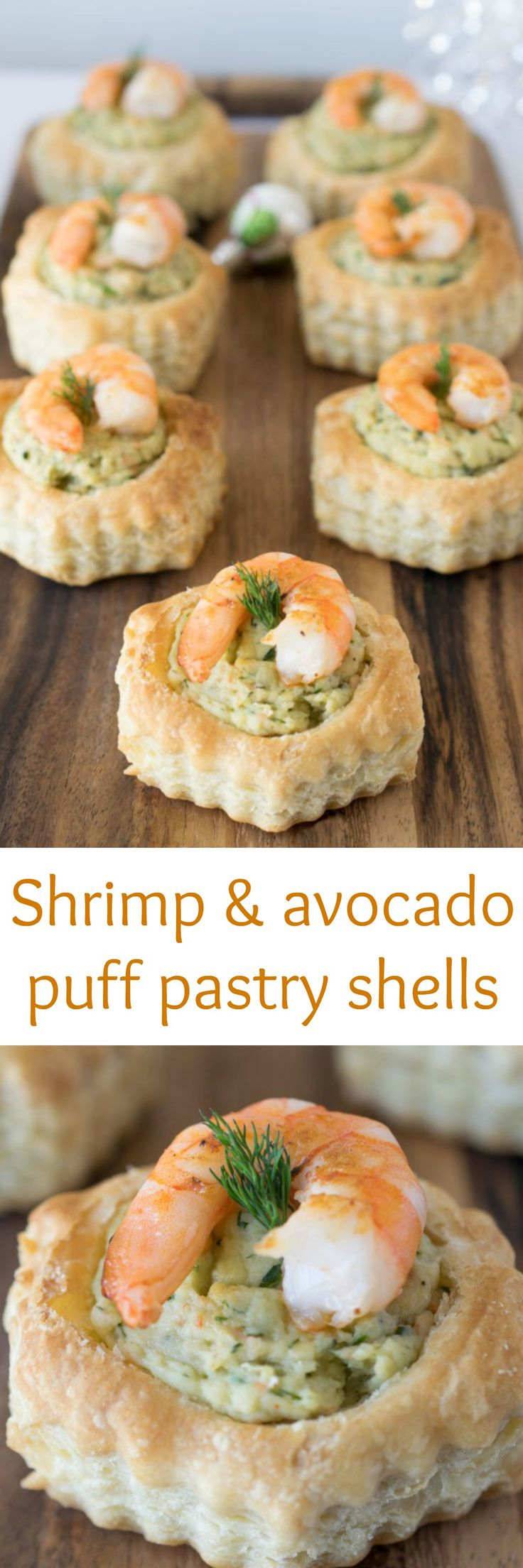 Shrimp & avocado puff pastry shells are really easy to make. Perfect for…