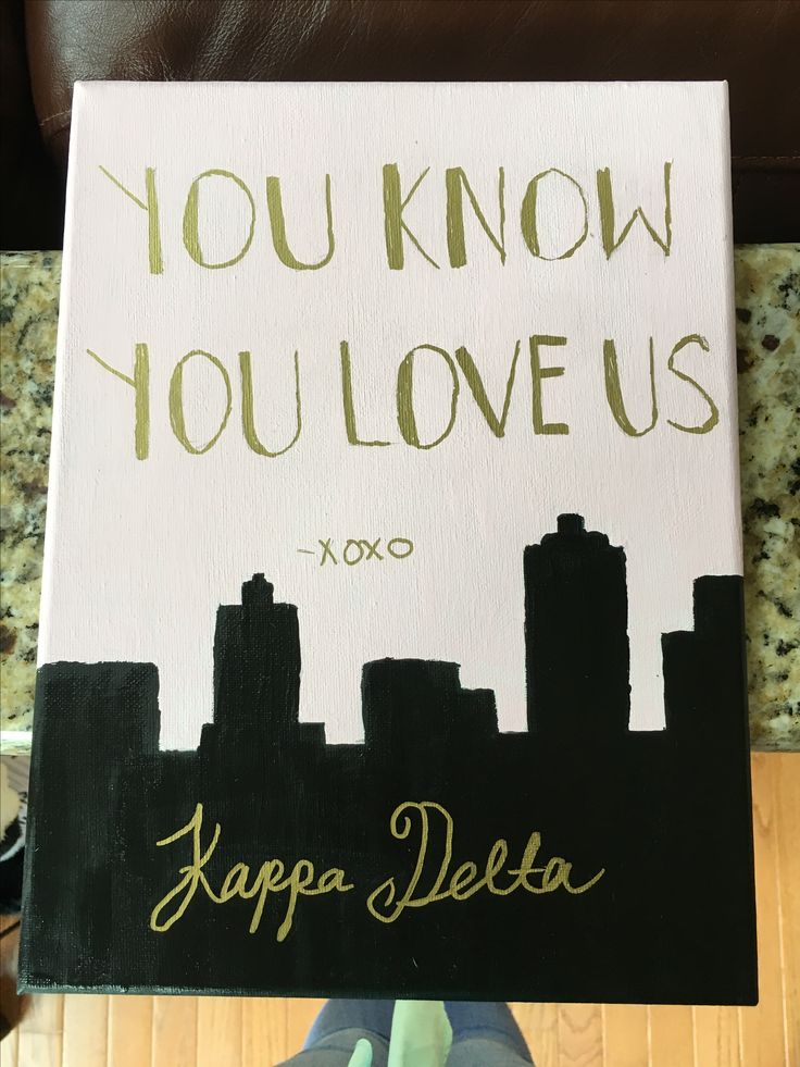 Cute gossip girl kappa delta canvas. Great for little baskets or anything else for your sorority!