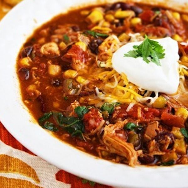 MY FAVORITE!!!                                                      Crock Pot Chicken Taco Chili - My Honeys Place