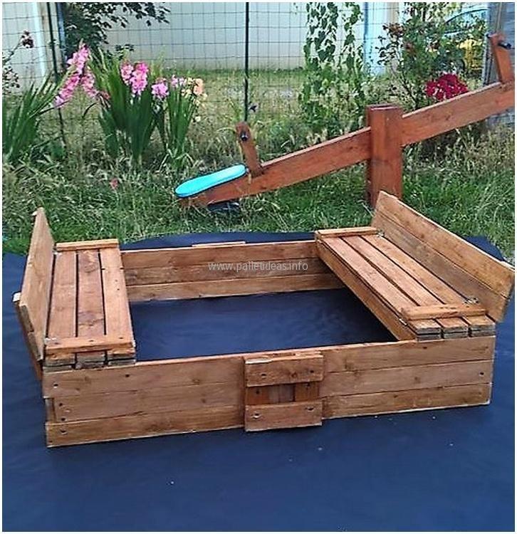25+ Best Ideas About Pallet Sandbox On Pinterest
