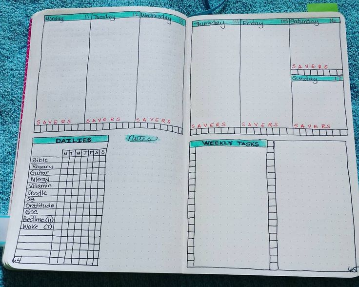 """I have been doing daily pages for years, but recently I started doing weekly layouts and they are working well for me. This is my layout for next week.…"""