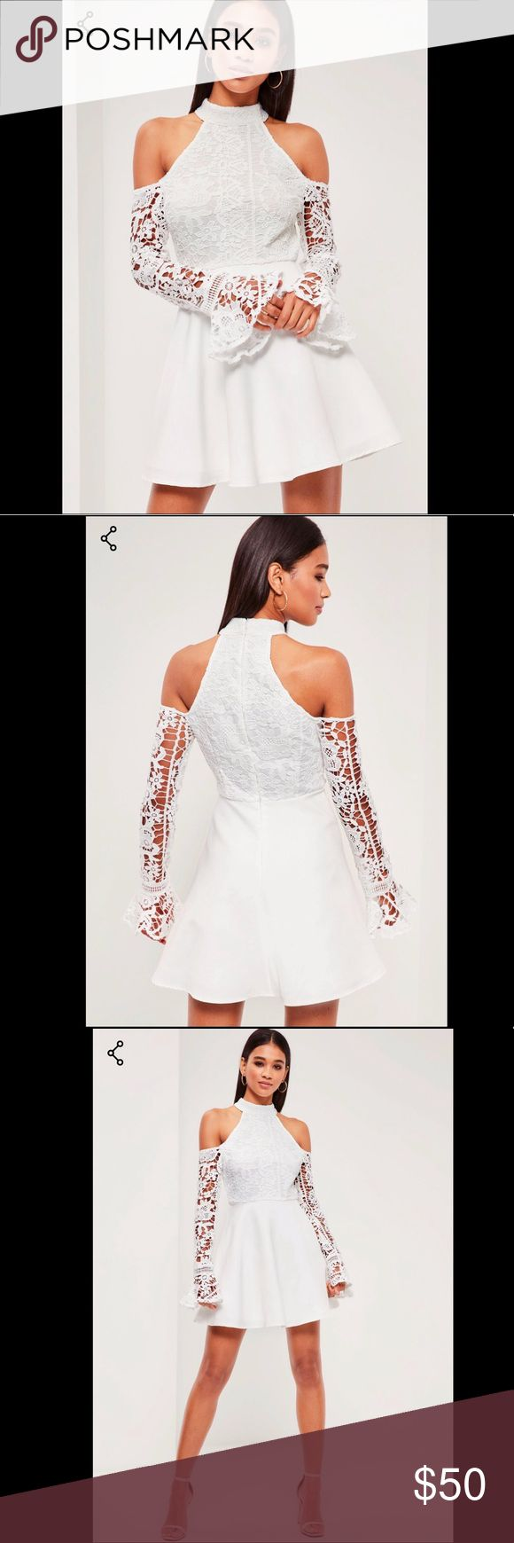 Missguided White Dress This beautiful dress is perfect for your special occasion I originally purchased for my wedding reception but ended up wanting a different style. The dress is brand new never worn !! And highly discounted please make a reasonable offer Missguided Dresses Wedding